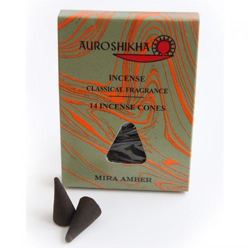 Encens cônes parfum d'ambiance Auroshikha, ambre